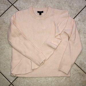 NWT J crew ruffle sweater